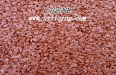 红色沥青混凝土现场采集图