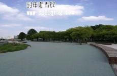 黄埔江两岸开放空间彩色沥青路面效果图